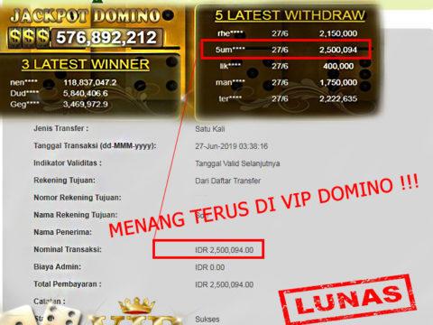 Menang Terus DI VIP DOMINO!!!