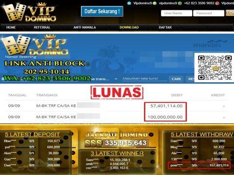 Jackpot Gacor di Situs Game Vipdomino hingga Ratusan Juta Rupiah